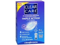 Clear Care Cleaning and Disinfecting Solution, Triple Action Cleaning, Travel Pack 3 oz (Pack of 3) - Image 2