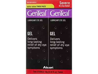 GenTeal Lubricant Eye Gel, Severe Dry Eye Relief, Extra Value, 2 Tubes (0.34 fl. oz)