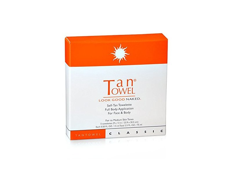 TanTowel Classic Self-Tan Towelette, 5 Count