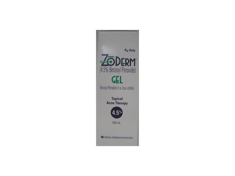 Zoderm Topical Gel 4.5% (RX), 125 ml,