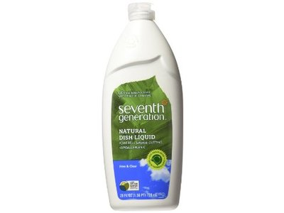 Seventh Generation Natural Dish Liquid Free & Clear, 25 oz