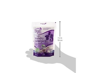 Grab Green 3-in-1 Laundry Detergent Pods, Lavender with Vanilla, 24 Loads - Image 5