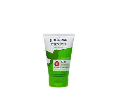 Kids Natural Sunscreen SPF 30 Goddess Garden 3.4 oz Liquid