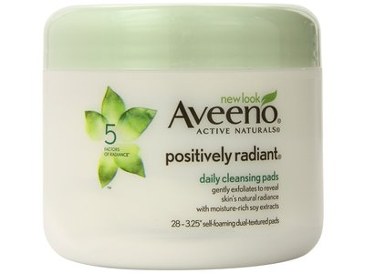 Aveeno Positively Radiant Daily Cleansing Pads, johnson & johnson - Image 1