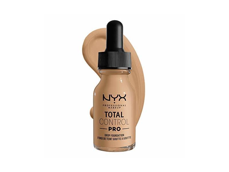 NYX Professional Makeup Total Control Pro Drop Foundation, Buff, 0.43 fl oz/13 mL
