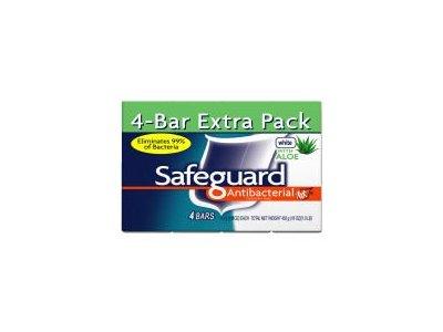 Safeguard Deodorant Antibacterial Deodorant Soap, White, 4 Count - Image 1