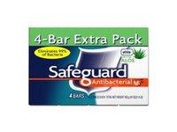 Safeguard Deodorant Antibacterial Deodorant Soap, White, 4 Count - Image 2