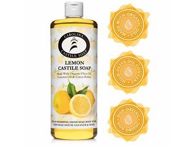 Carolina Castile Soap Liquid Lemon - 32 oz