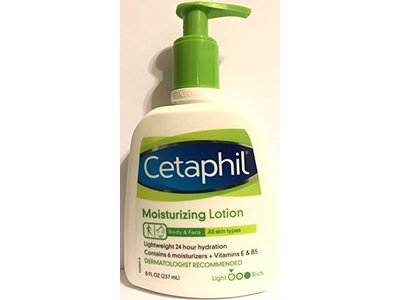 Cetaphil Moisturizing Lotion - Body & Face - For All Skin Types - Net Wt. 8 FL OZ (237 mL) Per Bottle - Image 3