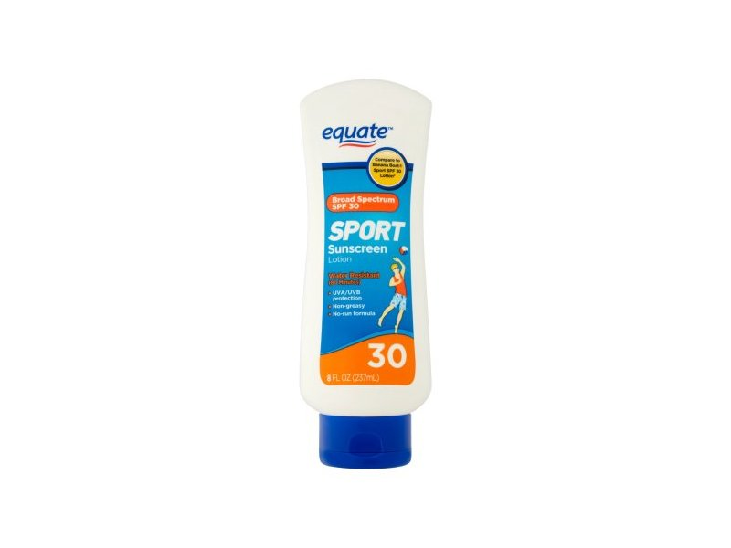 Equate Sport Sunscreen Lotion, Broad Spectrum SPF 30, 8 fl oz