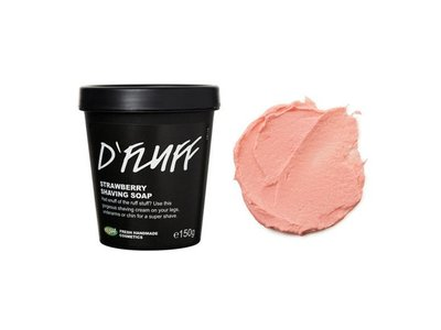 Lush DFluff Strawberry Shaving Soap Cream, 2.4 ounces