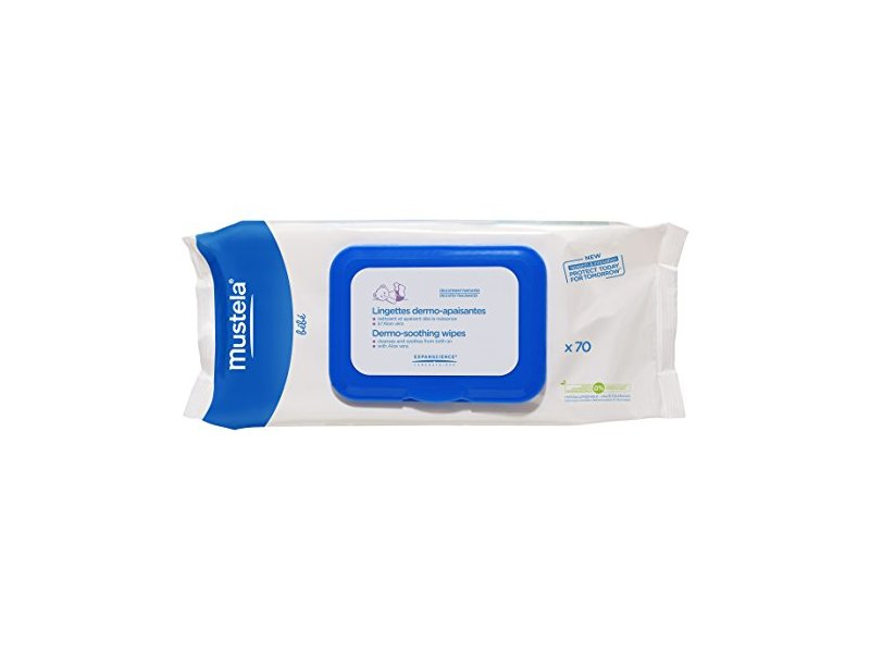 Mustela Dermo Soothing Wipes, Delicately Fragranced, 70 count