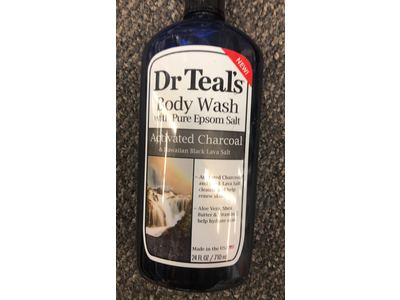 Dr Teal's Activated Charcoal & Lava Body Wash, 24 oz - Image 3