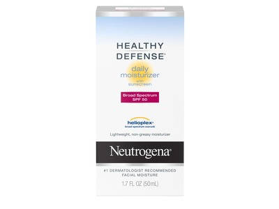 Neutrogena Healthy Defense Daily Moisturizer with Sunscreen, SPF 50, 1.7 Ounce (Pack of 2)