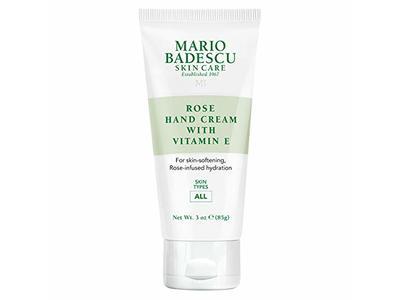 Mario Badescu Skincare Rose Hand Cream, Vitamin E, 3 oz/85 g