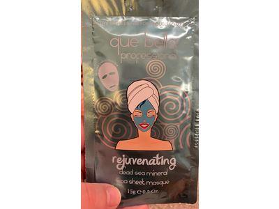 Que Bella Professional Rejuvenating Spa Sheet Masque, Dead Sea Mineral, 0.5 oz