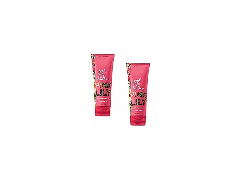 Bath & Body Works Bath & Body Works Pink Lily & Bamboo Tahitian Monoi Oil Body Cream, 8 Ounce