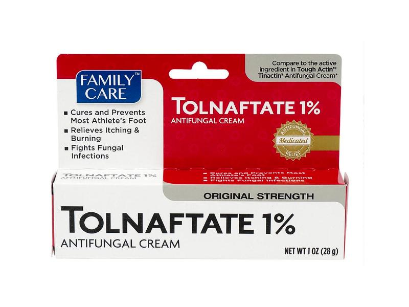Family Care Tolnaftate 1% Antifungal Cream, Original Strength, 1 oz/28 g