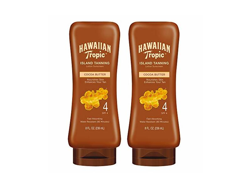 Hawaiian Tropic SPF 4 Sunscreen, Protective Dark Tanning Sunscreen Lotion