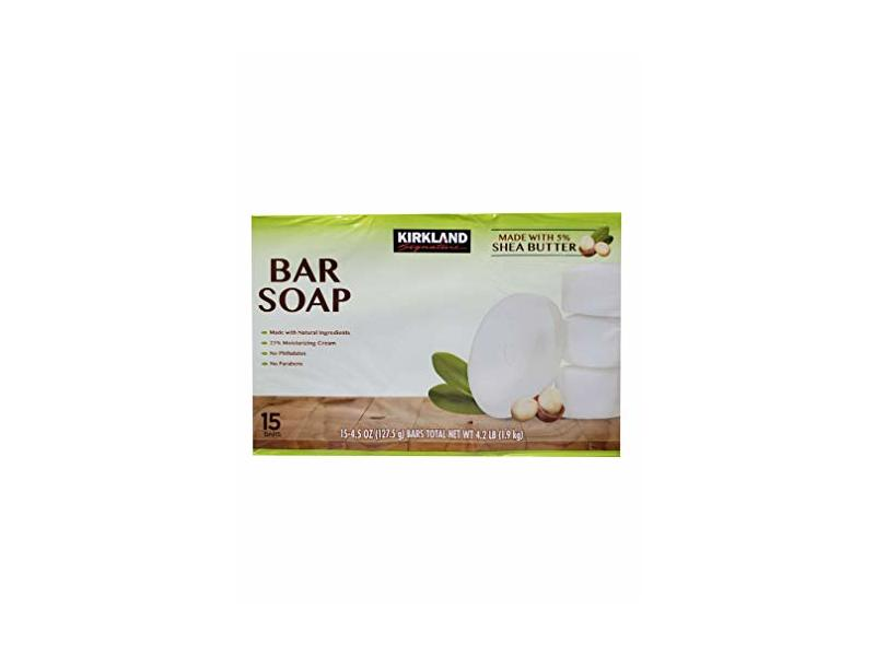 Kirkland Signature Bar Soap - Shea Butter 15 bars 4.2 LB