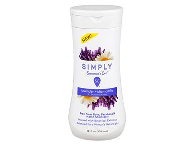 Summers Eve Simply Cleansing Wash, Lavender & Chamomile, 12 oz - Image 1