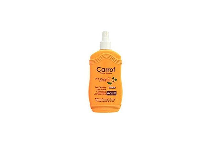 Carrot Sun Papaya Tan Accelerator Spray Oil with Papaya Oil & L-Tyrosine, 200ml