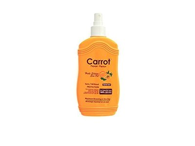 Carrot Sun Papaya Tan Accelerator Spray Oil with Papaya Oil & L-Tyrosine, 200ml - Image 1