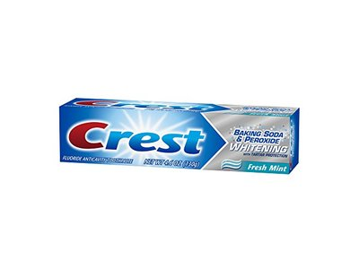 Crest Baking Soda and Peroxide Whitening with Tartar Protection Fresh Mint Toothpaste, 4.6 Ounce - Image 10