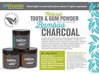 inVitamin Natural Tooth & Gum Powder with Activated Charcoal, Spearmint, 2.75 oz - Image 2