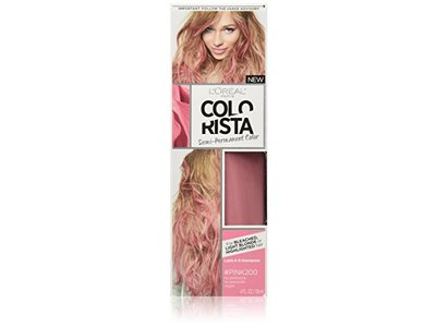 L'Oreal Colorista Semi-Permanent for Light Blonde or Bleached Hair, #Pink