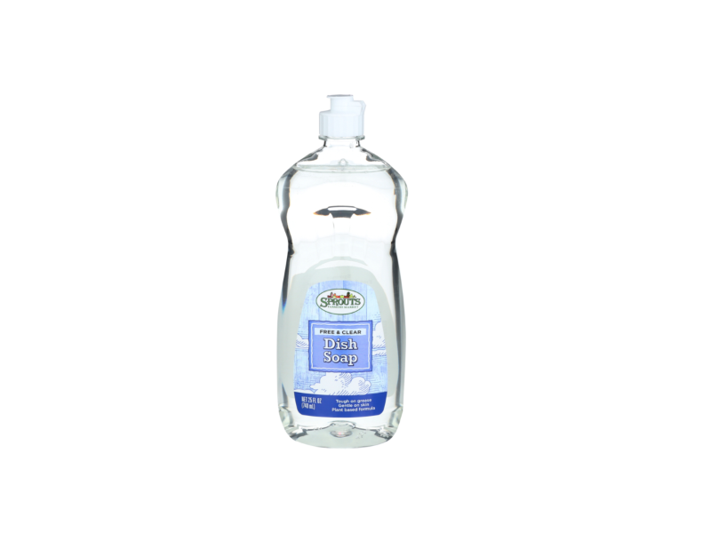 Sprouts Dish Soap, Free & Clear, 25 fl oz