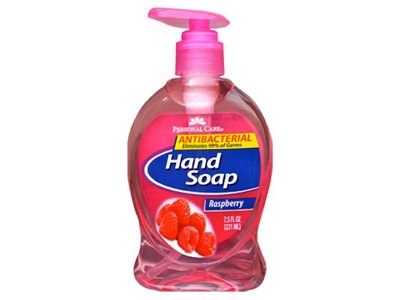 Personal Care Anti-Bacterial Liquid Hand Soap, Raspberry, 7.5 fl oz