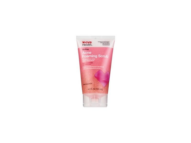 CVS Health Oil-Free Acne Foaming Scrub, Pink Grapefruit