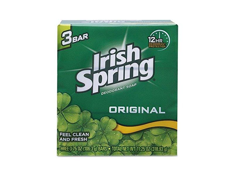 Irish Spring Deodorant Soap, Original, 3.7 oz (Pack of 3)