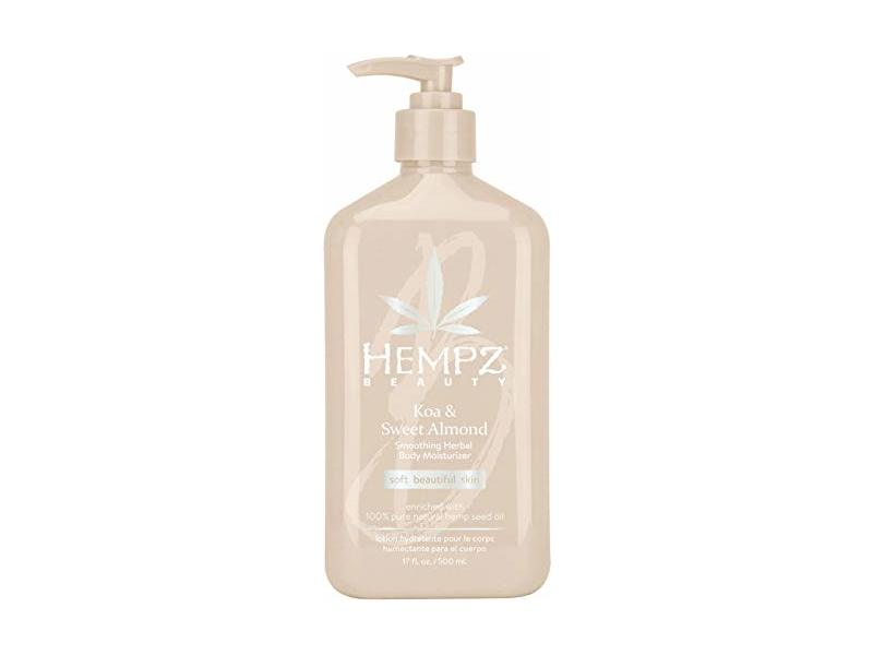 Hempz Beauty Koa & Sweet Almond Smoothing Moisturizer, 17 oz