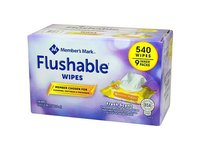 Member's Mark Flushable Wipes, 60 wipes (9 pack) - Image 2