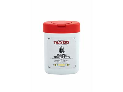 Thayers Witch Hazel Aloe Vera Formula Toning Towelettes Lemon, 30 Count