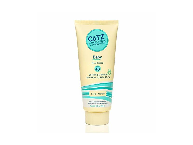 CoTZ Baby Non-Tinted Mineral Sunscreen, SPF40, 3.5 oz/100 g