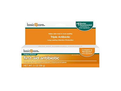 Basic Care First Aid Antibiotic Ointment, 2 oz