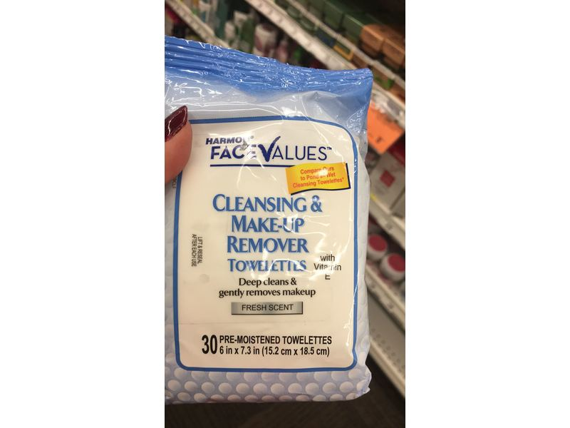 Harmon Face Values Cleansing Amp Make Up Remover Towelettes