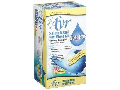 Ayr Saline Nasal Neti Rinse Kit, 40 count - Image 1