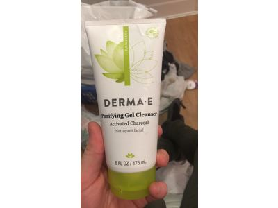derma e Purifying Gel Cleanser With Marine Algae and Activated Charcoal, 6 oz - Image 3