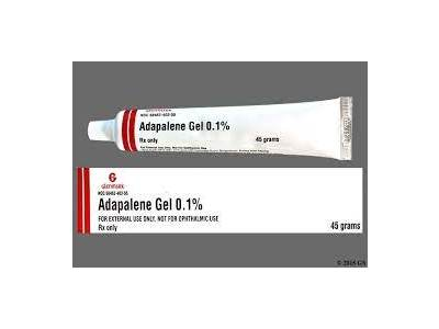 Adapalene Gel, 0.1%, (RX), 45 g, Glenmark