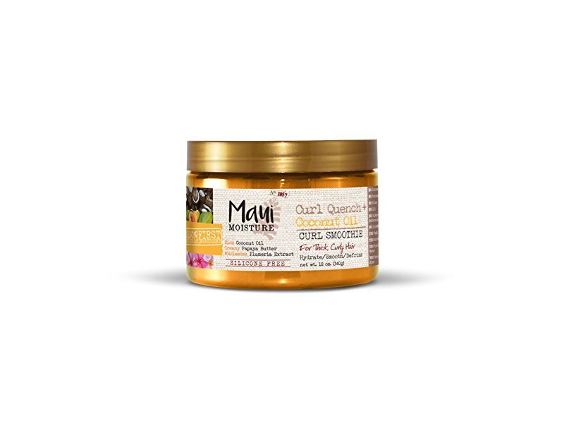 Maui Moisture Curl Quench + Coconut Oil Curl Smoothie, 12 fl oz