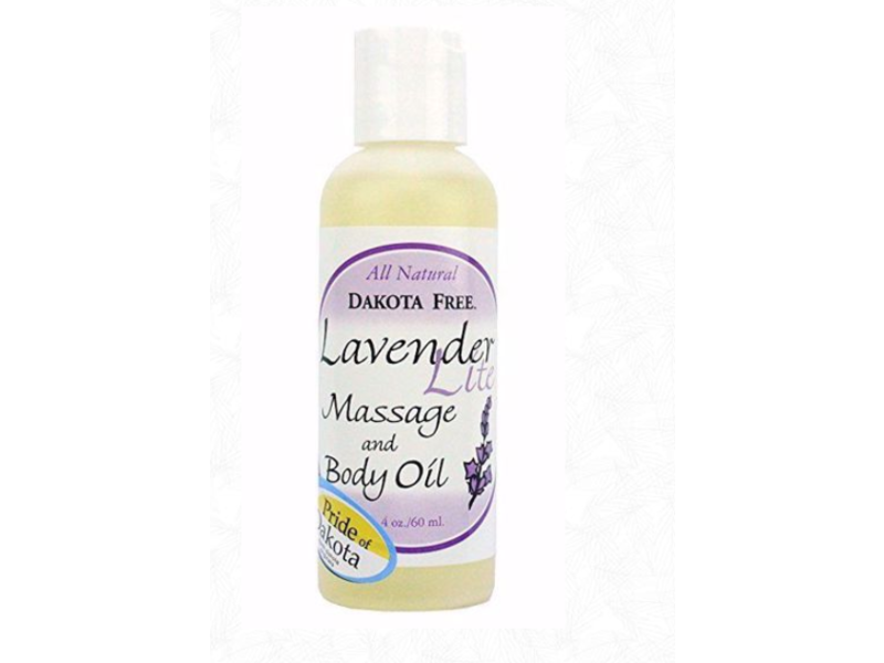 Dakota Free Lavender Lite Massage & Body Oil, 4 oz