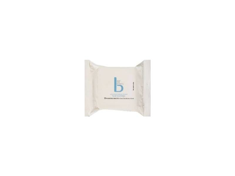 Just the Basics Cleansing & Makeup Remover Facial Towelettes, 30 count