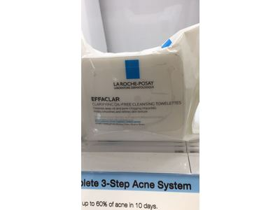 La Roche-Posay Effaclar Clarifying Oil-Free Cleansing Towelettes Facial Wipes, 25 ct. - Image 5