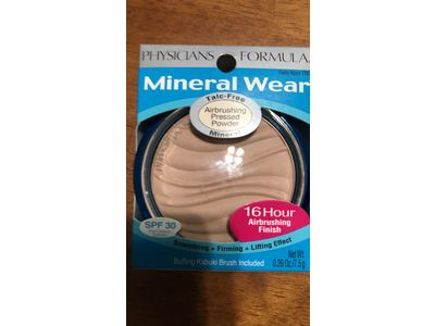 Physicians Formula Mineral Wear Talc-Free Mineral Makeup Airbrushing Pressed Powder SPF 30, Creamy Natural, 0.26 Ounce - Image 3