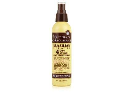 Renpure Originals Brazilian Keratin 4 Day Straight Flat Iron Spray, 6 Ounce (Pack of 2)