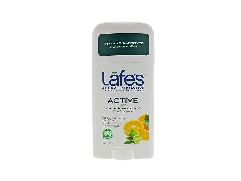 Lafe's Deodorant Stick, Citrus & Bergamot, 2.25 Ounce